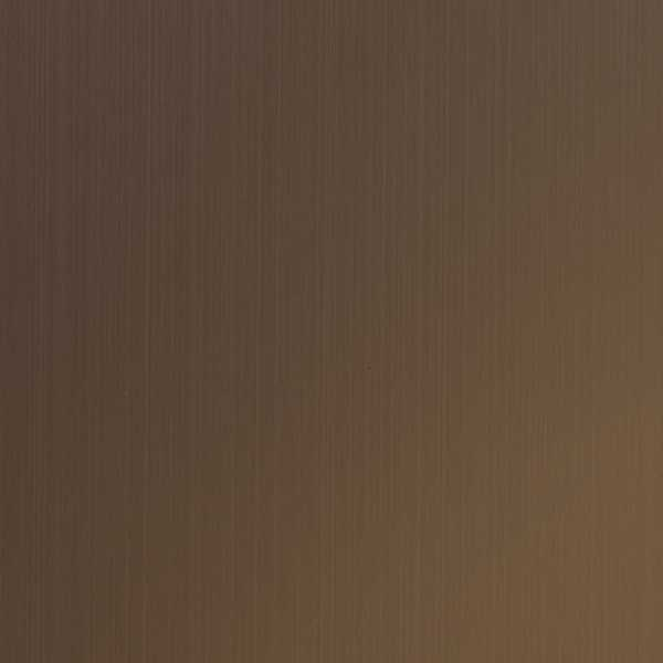 Plancha acero inoxidable coloreada T22-Quartz-Bronze-Hairline