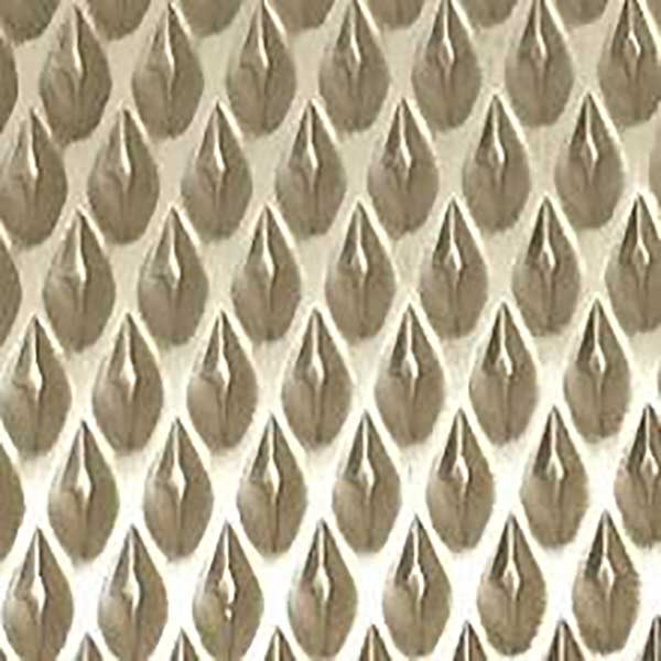 Plancha acero inoxidable texturada Pyramid