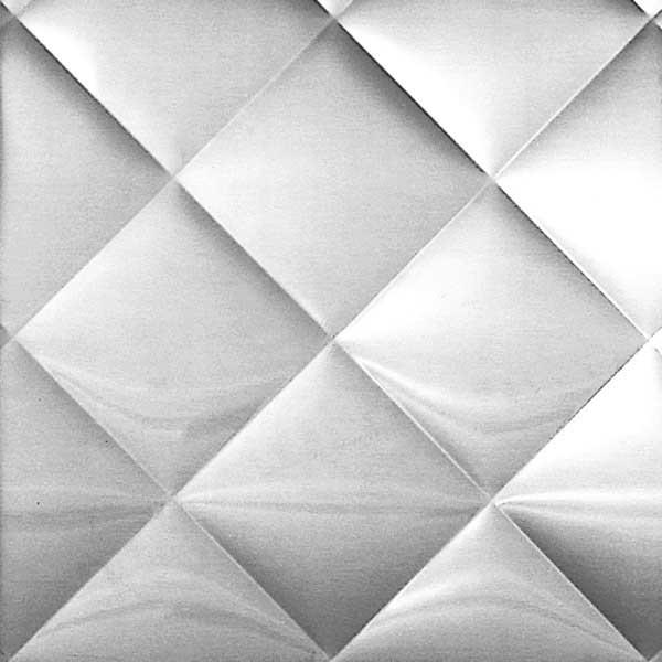 Plancha acero inoxidable texturada Quilted-Diamond(USA)